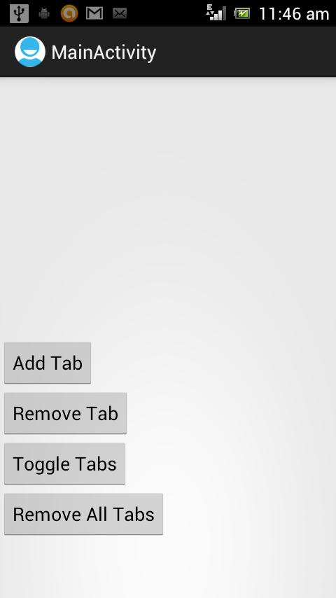 ActionBar Tabs