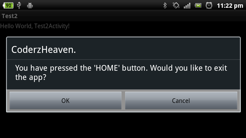 Home button override