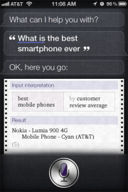 Siri Loves Nokia Lumia 900