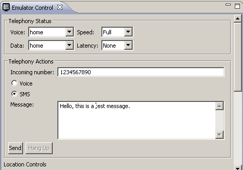 SMS receiver example