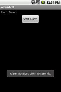 Alarm Demo