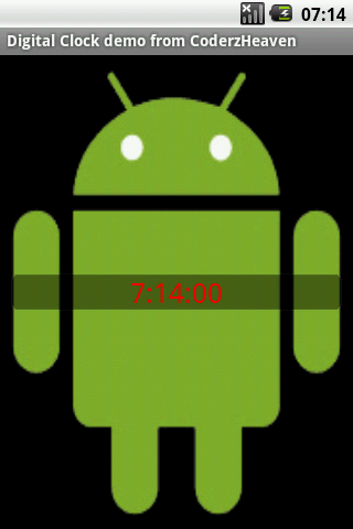 Digital Clock Demo in Android