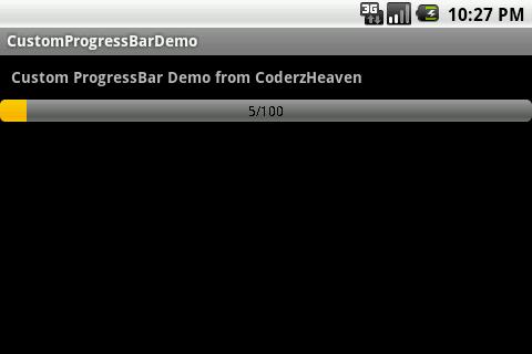 custom ProgressBar with text
