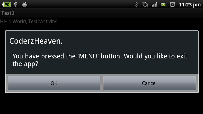 Home button override