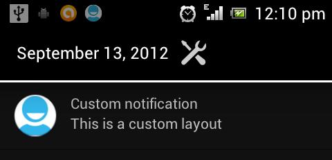 Custom Notification