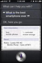 Siri Loves Nokia Lumia 900