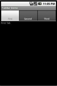 TabBar in ANDROID